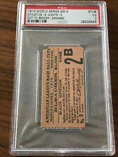 RARE 1913 World Series Game 4 A's vs. Giants Ticket Stub PSA 3 VG Highest Graded