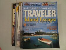 Lot of 7 National Geographic's Traveler Magazines Jan-Oct 2001 VG