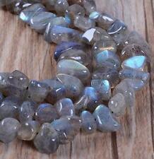 Natural 5-8mm gemstones freeform Labradorite chip loose beads 15''