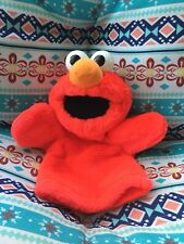 Sesame Street Elmo Plush Hand Puppet VTG Toy by Tyco 1995 Moveable Mouth & Arms