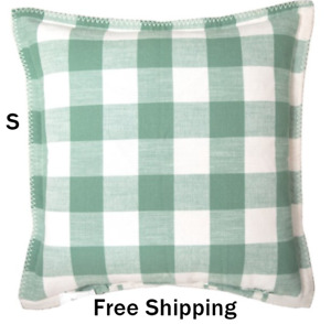 New, Reversible Plaid Decorative Pillow, 20'' x 20'', Green Sage, Free Shipping