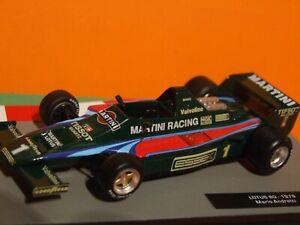 1979 Formula 1 Mario Andretti  Lotus 80  1:43 Scale