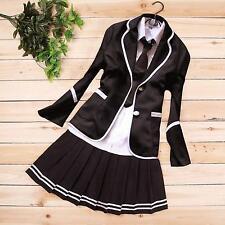 japonais filles du secondaire uniforme,costume ,manteau +chemise + jupe + cravat