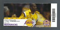 2008 NBA MAVERICKS @ LOS ANGELES LAKERS FULL TICKET - KOBE BRYANT 52 POINTS MAR2
