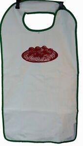Extra Long Waterproof Mealtime Protector Adult Bib 17.5 x 36 Spaghetti Design