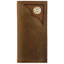 C-W522 Badger Brown Leather Unisex Outdoor Rodeo Wallet 7.25 X 3.5