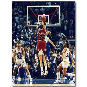 Michael Jordan The Last Shot Basketball Silk Poster 14x19 inch