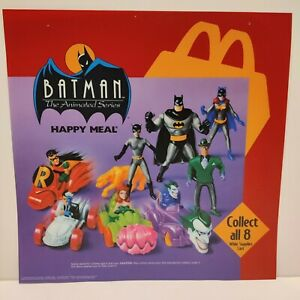 """Batman Animated Series Happy Meal Toy Sign Translite 1993 McDonald's 14""""x14"""""""