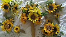 Wedding flowers bridal bouquet decorations sunflower bouquets & reception