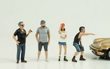 Hot Rod Rodders Cool 4 Figures Set Figurine 1:24 American Diorama