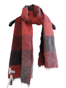 Tie Rack Check Scarf Red One Size rrp £19.99 DH009 GG 10