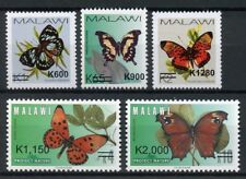 Malawi 2018 Butterflies Overprint OVPT 5v Set Butterfly Insects Stamps