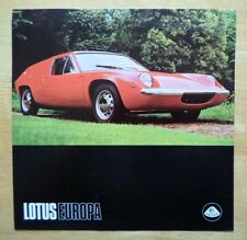LOTUS Europa orig 1970 UK Mkt sales brochure
