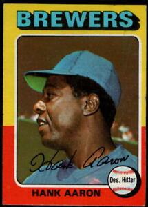1975 Topps Baseball - Pick A Card - Cards 401-660