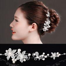 Acconciatura capelli tiara strass perle accessorio fermacapelli sposa  matrimonio 37e01206d648