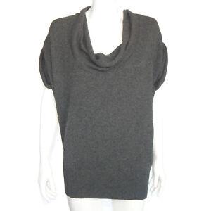 VINCE 100% Cashmere Beautiful Dolman Wide Turtleneck Sweater Gray XS - 7964