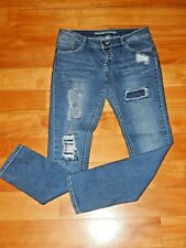 "Women's Blue Jeans - Size Junior's 11 - Almost Famous - Destroyed - 30""x31"""