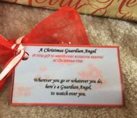 Thinking of you through difficult time at Christmas angel get well soon gift