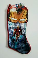 Marvel Avengers Iron Man Christmas Stocking Decoration 18 in Tony Stark Hero