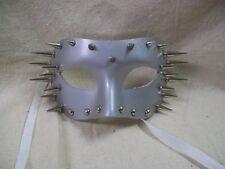 Silver Spiked Eye Mask Futuristic Warrior Masquerade Ball Gothic Punk Rock Biker
