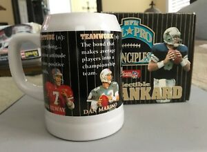NFL All Pro Principles Collectible Tankard Marino Elway Young Aikman New in Box