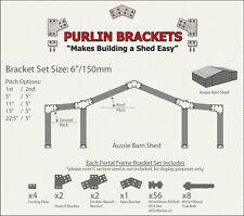 Aussie Barn Shed 6inch C Section Purlin Bracket Set-Garage-Farm-Steel Plate