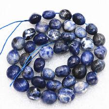"Beautiful 8x10mm lapis lazuli Irregular Shapes Gemstone  Loose Beads 15 """