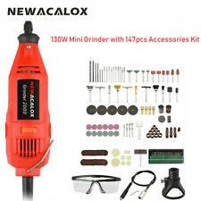NEWACALOX EU 220V 130W Electric Mini Grinder Variable Speed 147PCS Tool Kit GN2