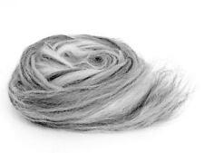 1kg Bergschafwole Melange weißer tieger Kammzug  Filzwolle Spinnwolle