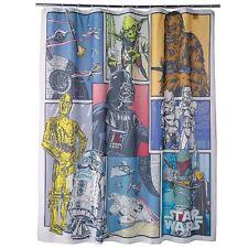 "Disney Star Wars Fabric Vader Boba Fett Yoda Shower Curtain 70"" x 72"" Brand New"