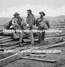 1863 Confederate/Southern/Rebel POW/Prisoner Soldiers Gettysburg Civil War Photo