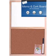 Cork Message Notice Board/Combo Board Wooden Frame Office Memo School Pinboard