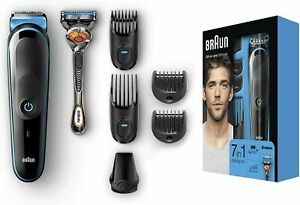 Braun All-In-One Rechargeable Wet/Dry Trimmer 3 Shave & trim kit **Quick Ship**