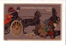 CONTINENTAL HORSE BRAND CARRIAGE TYRES Vintage ARTIST pc  ADVERTISING Tyre Co.