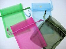 LOT 8 sheer ORGANZA mesh drawstring GIFT bags  * 4x 6 MEDIUM * free US ship