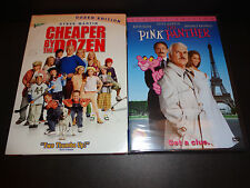 CHEAPER BY THE DOZEN Baker's Dozen Ed & PINK PANTHER Spec Ed-2 DVDs-STEVE MARTIN