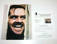 JACK NICHOLSON SIGNED 'THE SHINING' 11x14 MOVIE PHOTO BECKETT COA BAS PROOF
