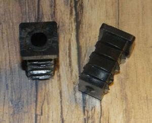 2 Stück 20 x 20 mm Gewindestopfen Lamellenstopfen Vierkantrohr Stellfuß Möbelfuß