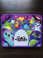 Hatchimals Purple Padded Lap Desk With 2 Zipped Side Pencils Bags