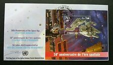 United Nation 50 Anniversary Of Space Age 2007 Astronomy Planet Satellite (FDC)