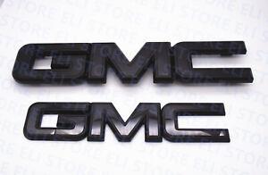 2014-2018 GMC Sierra Black Emblem Package Front & Rear 1500 2500HD 3500HD