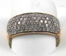 Round Cut Diamond Cluster Pave Ring Band 14k Rose Gold 1.40Ct
