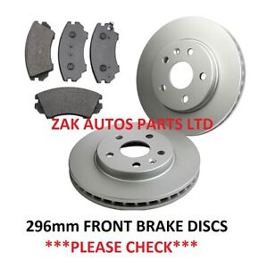 VAUXHALL INSIGNIA 1.8 2.0 (2009-) FRONT BRAKE DISCS AND BRAKE PADS SET NEW