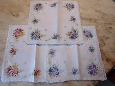 12 mouchoirs femme 100% coton tissées festonnés n°240