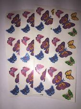 Sandylion cool butterfly STICKERS lot of 4 SHEETS  2  X 6 New
