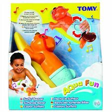 Tomy boule wind up beaver bath time toy, avec moving queue & singing fonction