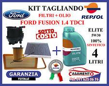 KIT FILTRI + OLIO MOTORE REPSOL 5W30 FORD FUSION 1.4 TDCI TAGLIANDO