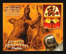 PERU MNH stamp prehistoric animals dinosaurs fossils bones of sloth