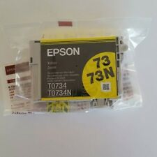 Genuine Original Unused & Sealed Epson T0734 T0734N 73 73N Ink Cartridge Yellow