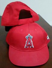 """New Adult Twill MLB Los Angeles Angels Red/White Home """"A"""" Cap Hat -PMJS"""